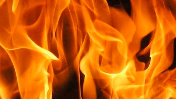 The Red Cross is assisting around eighteen people displaced by the blaze