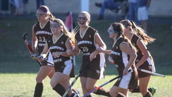 Clarkstown South's Kiersten Ahle (20) scored the only goal of the game at Pearl River Sept. 20, 2014. Clarkstown South won 1-0.