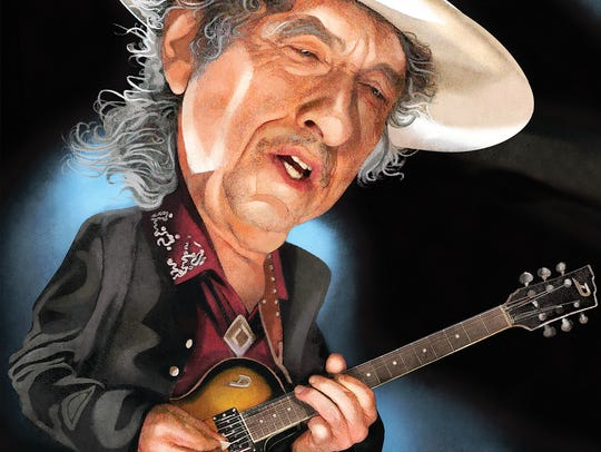 Bob Dylan, as illustrated by the Des Moines Register