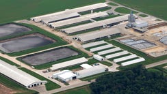 The Wiese Brothers Dairy Farm is shown on the east