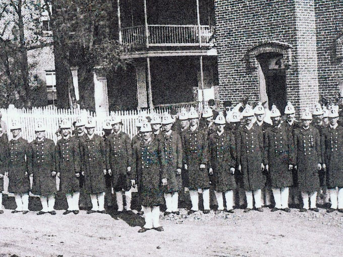 Members of the Hope Hose Company in front of their