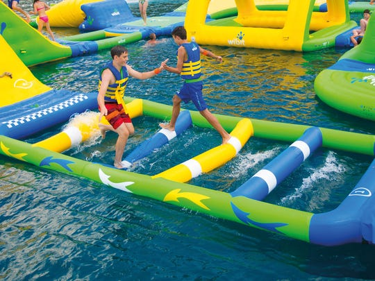 Wibit inflatables will be a new feature this summer at Outagamie County's Plamann Lake.