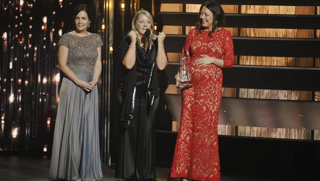 "Lori McKenna, Liz Rose and Hillary Lindsey wrote Little Big Town's hit ""Girl Crush."""