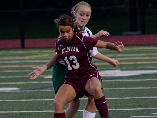 Elmira's Kendra Oldroyd scored 28 goals in 2017, helping her to a third-team all-state selection.