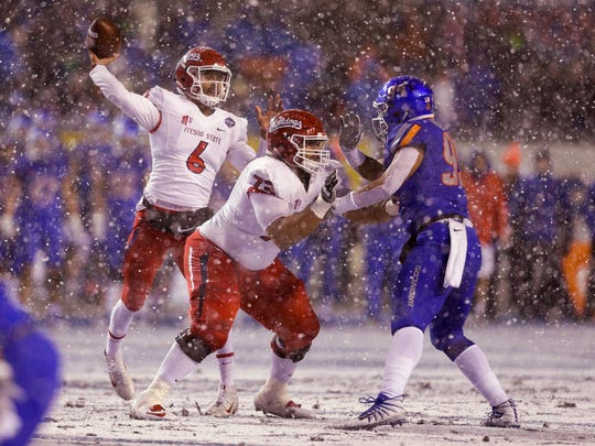 Fresno State and Boise State played in the snow on Dec. 1 during the Mountain West championship game in Boise, Idaho. Don't expect it to be much warmer during the Famous Idaho Potato Bowl on Dec. 21.