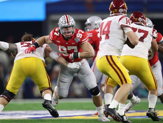 Ohio State defensive end Nick Bosa has his sights set