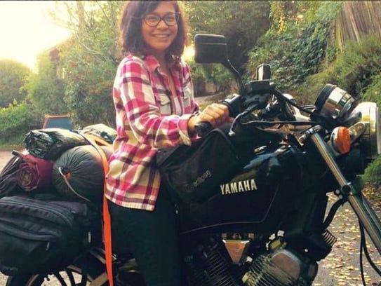 Tiffany Camhi prefers smaller, Japanese bikes, like