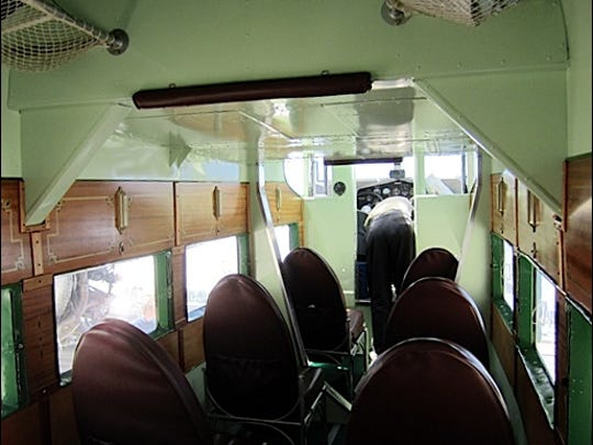 Interior of 1929 Ford Tri-Motor Airplane at New Garden Flying Field (2016 Photo by S. H. Smith)