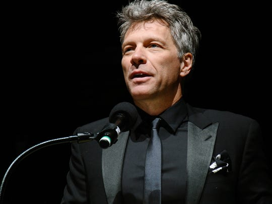 Jon Bon Jovi accepts his Marian Anderson Award in Philadelphia.