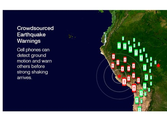 Crowdsourced earthquake warnings: Cell phones can detect