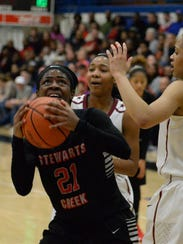 Stewarts Creek's Jamya Rogers goes up for a shot as