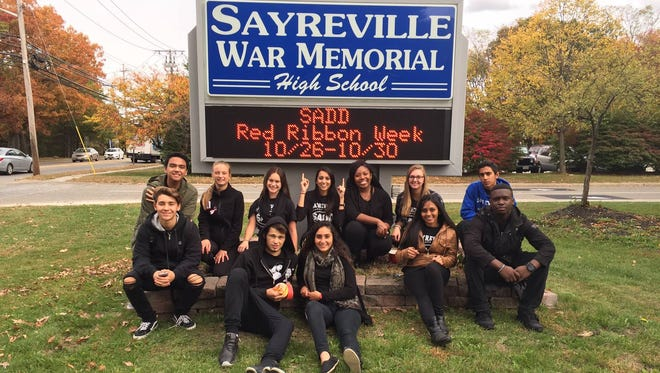 Sayreville students were recognized at the Nov. 17 Board of Education meeting for their efforts to raise awareness about the use of drugs, alcohol and drunk driving during Red Ribbon Week.