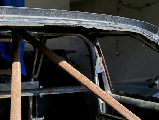Roll bars are among the modifications Travis Olsen