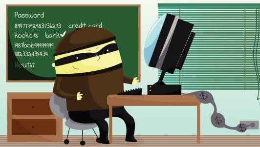 Illustration of computer hacker
