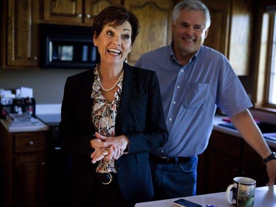 Lt. Gov. Kim Reynolds with husband Kevin at their Osceola home.