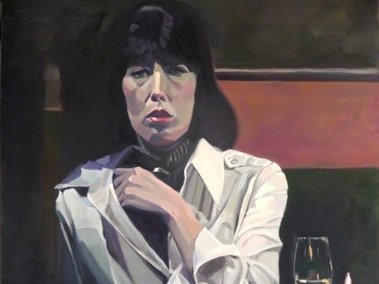 """Marti Jones Dixon, """"Linnea,"""" oil on canvas, 24x24""""."""