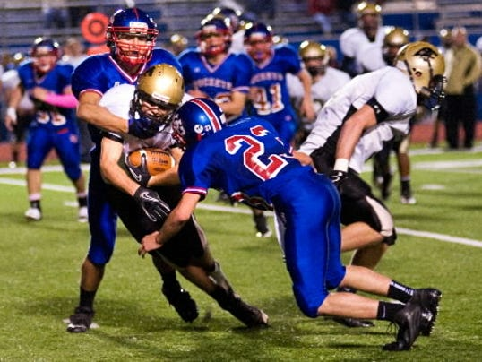 Spring Grove's Logan Hagerman, right, and Kyle Micik, left, were both slated to return this season at Spring Grove. A knee injury will force Hagerman to instead undergo surgery on his ACL. (GAMETIMEPA.COM -- STAFF)