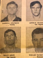 Six fugitives escaped from the Tom Green County Jail on Sunday Feb. 9, 1969.