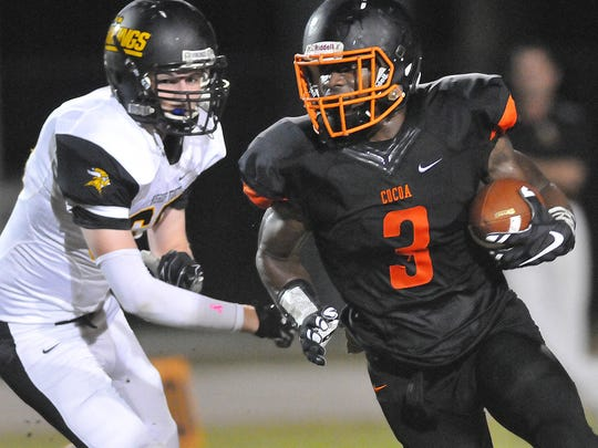Chauncey Gardner-Johnson during his playing days with Cocoa High School.