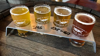 Flights allow visitors to sample their choice of Thimble Islands' beer offerings, from the Ghost Island Double IPA, a bold, crisp brew that's dry-hopped with Citra, to the Session Forty Five IPA, which is made with mosaic hops.
