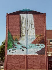 Louisville artist Chris Chappel painted this mural in Portland as part of an art project by The Portland Investment Initiative, Beautify Earth My Morning Jacket.