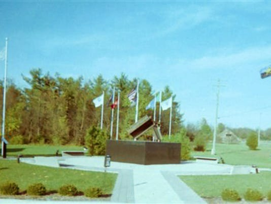 The 9/11 memorial at Letterkenny Chapel is pictured.