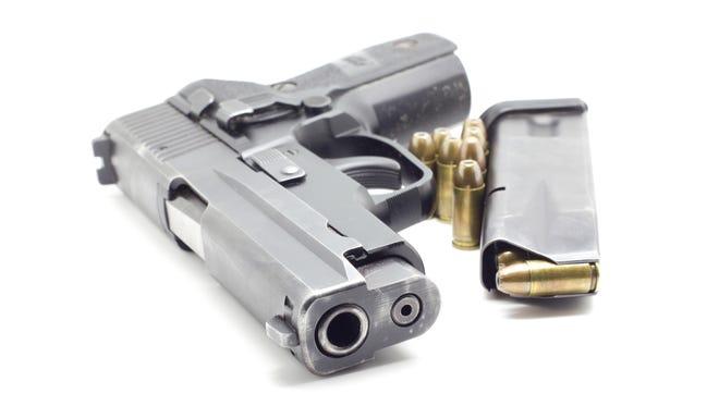Pistol with ammo.