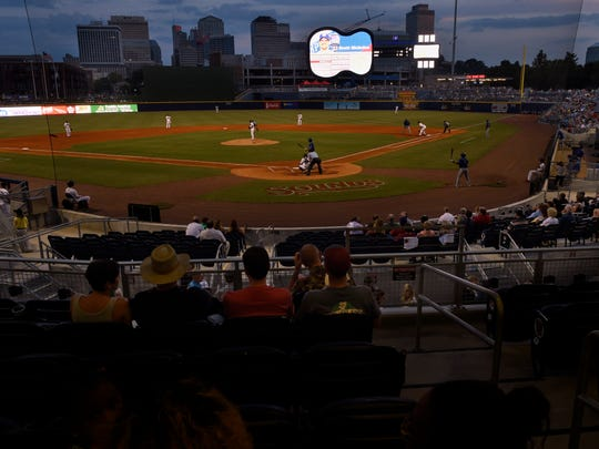 Sounds fans enjoy their game against the Round Rock