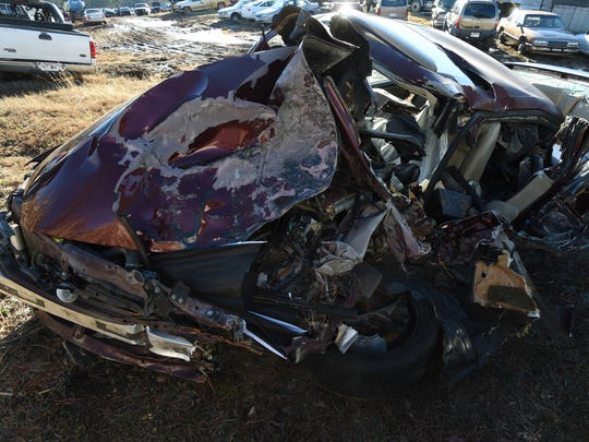 The Nissan Altima 22-year-old Christopher Jordan was driving shows the severity of the head-on collision that took the 22-year-old Mountain Home man's life. The driver of the other vehicle, 32-year-old Gassville resident Terry Teeter, allegedly fled the scene of the accident.