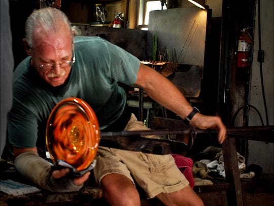 Douglas Merritt, a master glass artist, has a for-decade career in glass work.