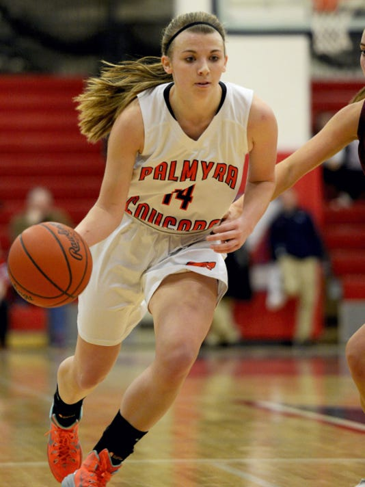 Palmyra's Kristen Smoluk averaged 11.8 points per game this past season en route to earning third team all-state recognition in Class AAAA.