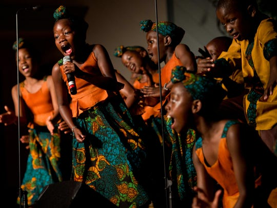 The African Children's Choir performed in Fort Pierce