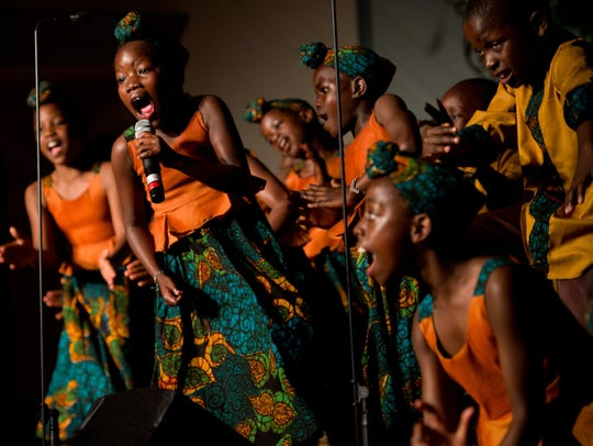 The African Children's Choir, which performed last