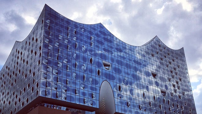 The new concert hall, Elbphilharmonie, is destined to be a signature landmark for Hamburg, Germany.