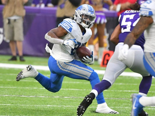 Lions running back Ameer Abdullah is the team's leading