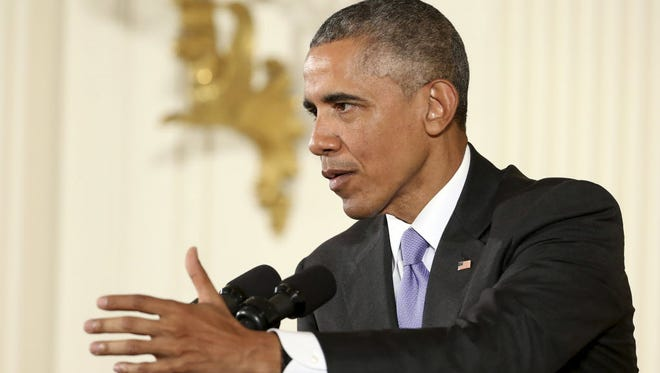 President Barack Obama during a news conference in the White House in Washington, DC, on July 15, 2015.