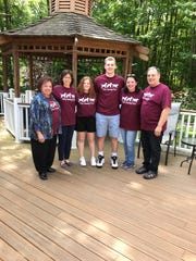 Dana LaCapra's whole family participated in her fundraiser for the Seeing Eye. They are (from left) Marie LaCapra, Gina LaCapra, Dana LaCapra, Justin LaCapra, Philomena McArthur and Sam LaCapra.