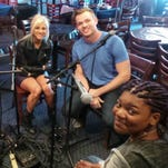 American Idol Live! performers Nick Fradiana, left, Rayvon Owen, Jax, Clark Beckham and Tyanna Jones at the Bluebird Cafe in April. They will perform at the Ryman Auditorium July 17.