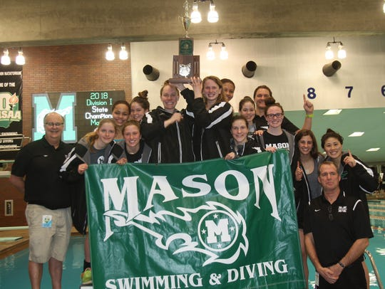 The Mason Comets' girls swimming and diving team won