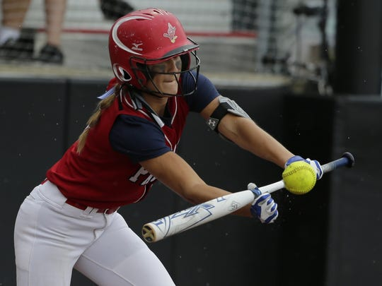 Pacelli's Paige Hintz batted over .540 this season for the Cardinals.