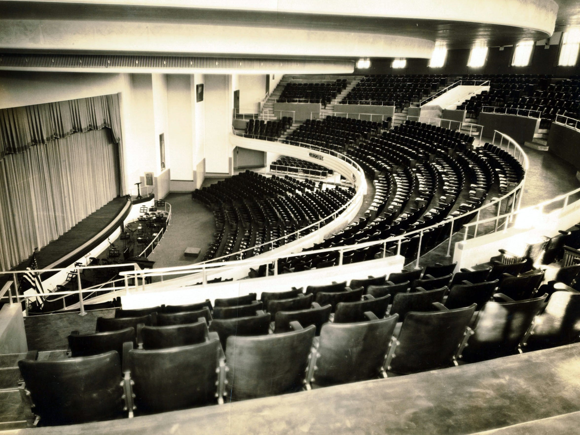 An undated photo from the balcony of the Joseph S.