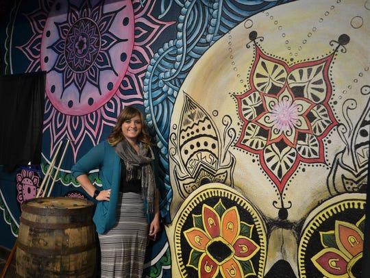 El Sarape Cantina bar manager Leanne Gunter stands