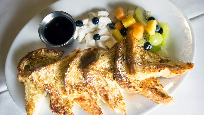Brunch is a popular option for Easter around York County. This is the Brioche French Toast with fresh fruit, whipped cream and syrup from the Blue Heron in Springettsbury Township.