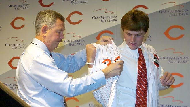 Terry Reynolds picked Jay Bruce with the 12th pick in the 2005 draft.