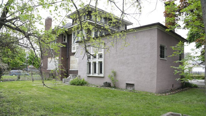 A home in the Boston-Edison neighborhood in Detroit.