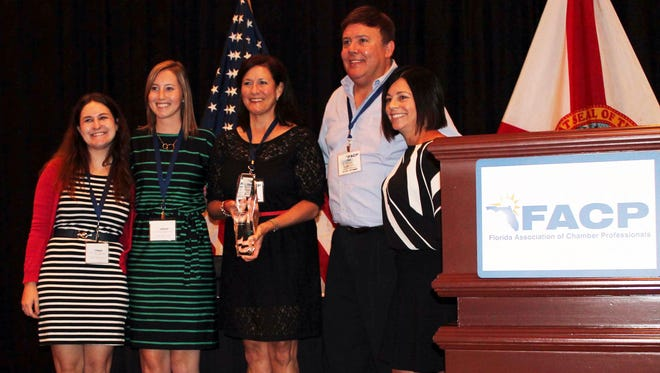 The Bonita Springs Area Chamber of Commerce was awarded Florida Chamber of the Year.