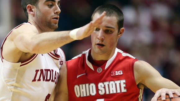 Ohio State guard Aaron Craft (4) leads the Big Ten in steals per game and is considered one of the best defenders in the country.
