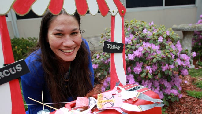 Buffy Quintero poses Friday at Lucas Elementary.