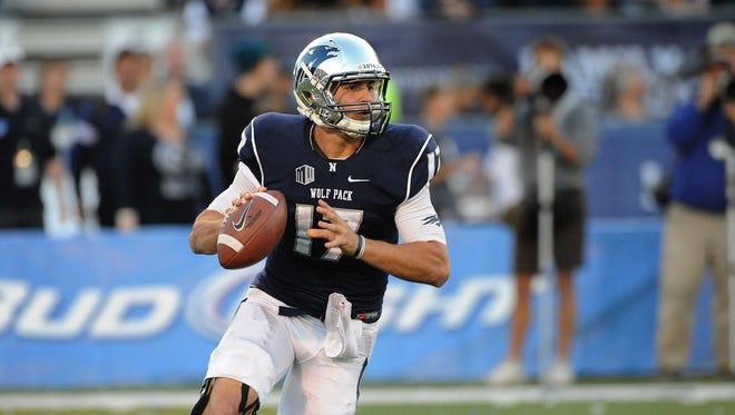 Nevada quarterback Cody Fajardo looks to throw during a past game at Mackay Stadium.