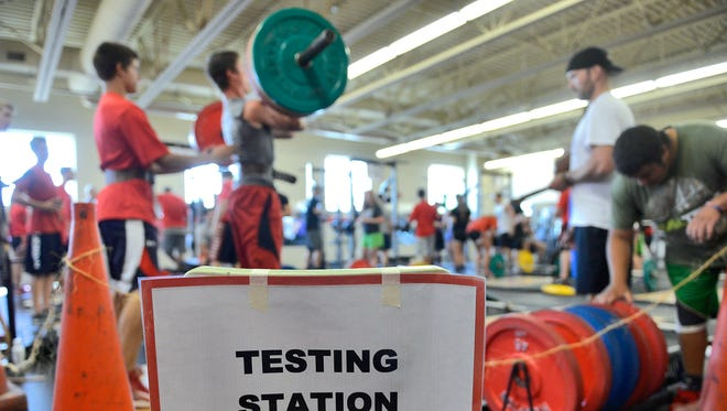More than 200 students from area schools competed Tuesday in the Spartan Challenge fitness competition at Rocori High School in Cold Spring.
